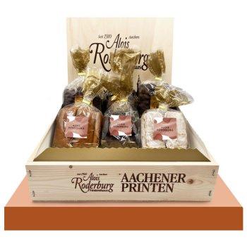 Geschenk-Holz-Kiste, 5-fach sortiert, 1400g